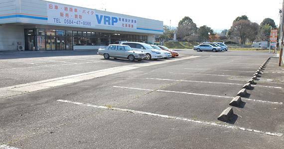 広い駐車スペース。関ヶ原インターより車で2分。