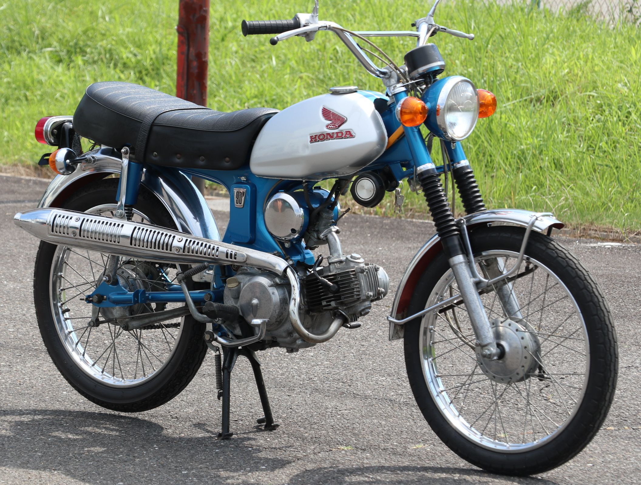 ホンダ CL90 青銀